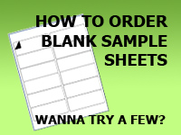 Blank Label Sheet Samples How To Order
